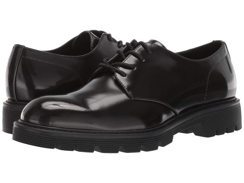 カルバンクライン メンズ オックスフォード シューズ Ferguson Black Brush-Off Box Leather