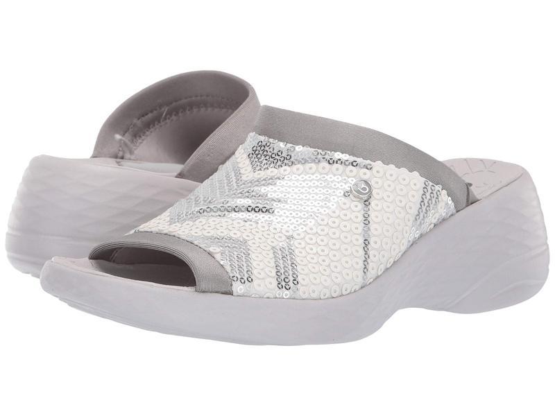 ビジーズ レディース ヒール シューズ Jubilee White/Silver Sequin