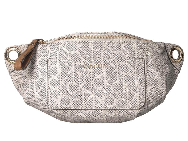 カルバンクライン レディース ボディバッグ・ウエストポーチ バッグ Sonoma Monogram Belt Bag Almond/Khaki