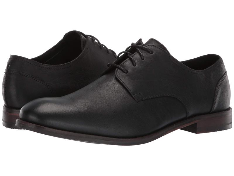 クラークス メンズ オックスフォード シューズ Flow Plain Black Leather