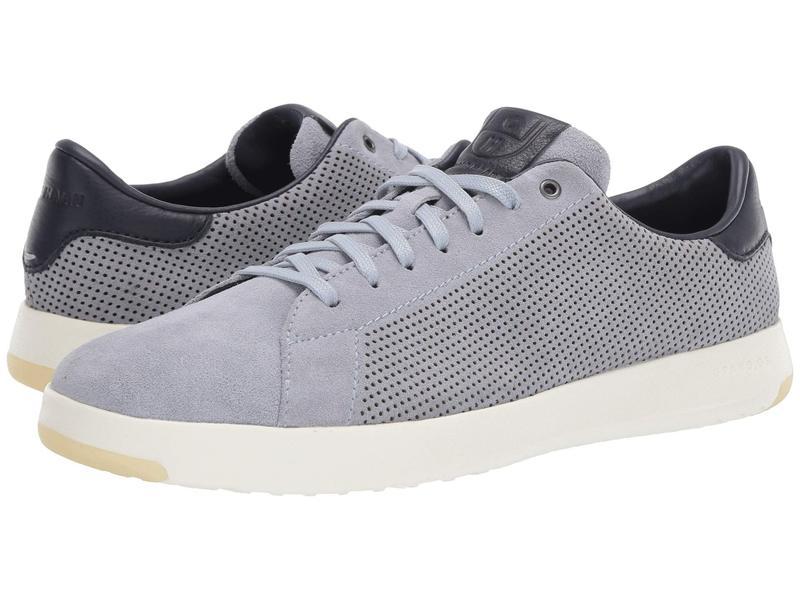 コールハーン メンズ スニーカー シューズ GrandPro Tennis Sneaker Zen Blue Suede Perf/Navy Ink