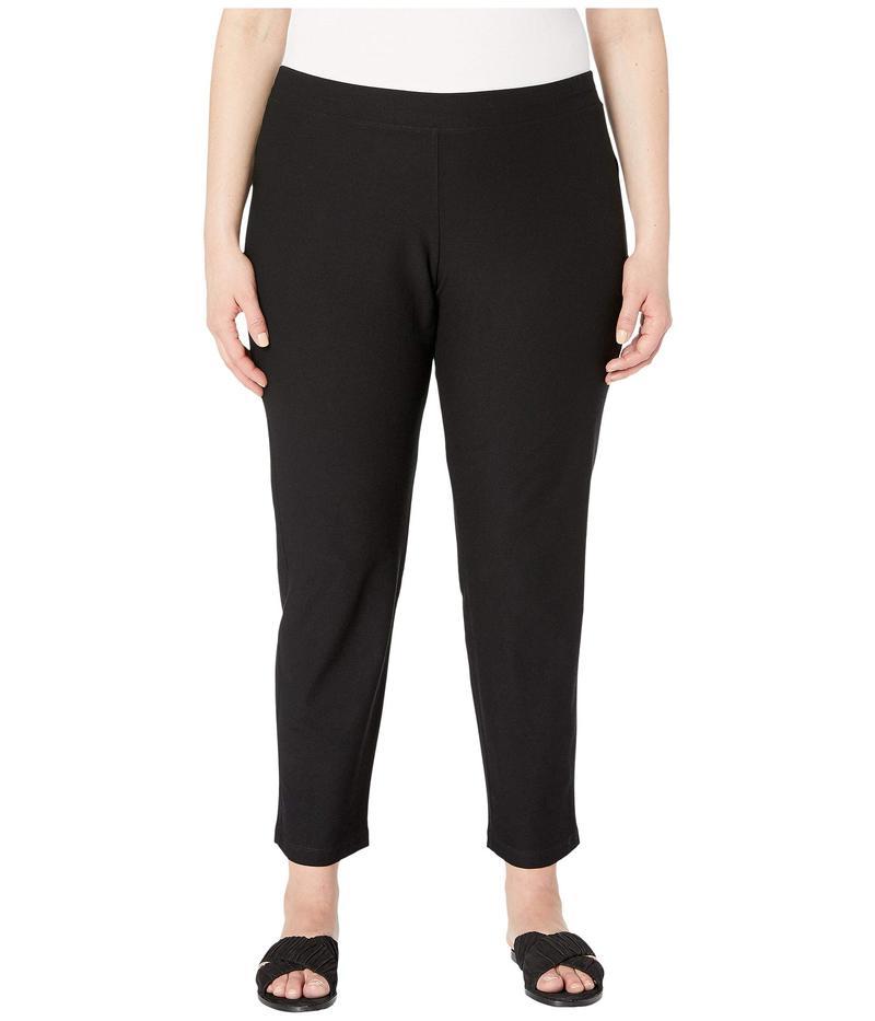 エイリーンフィッシャー レディース カジュアルパンツ ボトムス Plus Size Slim Ankle Pants Black