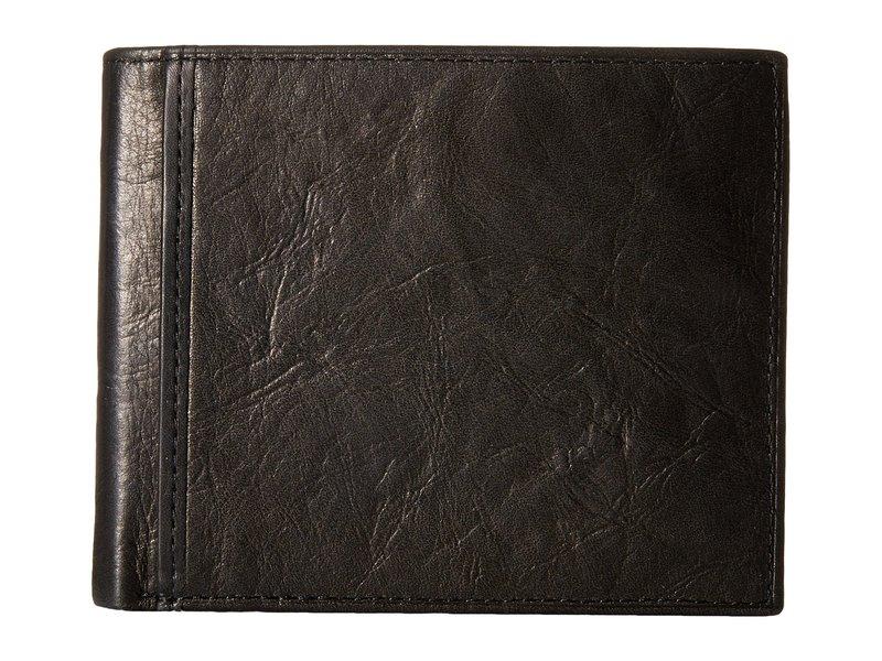 フォッシル メンズ 財布 アクセサリー Ingram RFID Large Coin Pocket Bifold Black