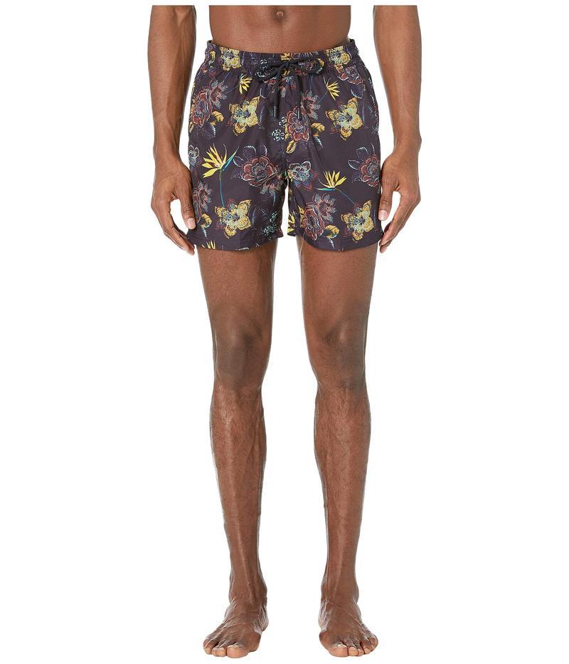 エトロ メンズ ハーフパンツ・ショーツ 水着 Tropical Floral Swimsuit Navy