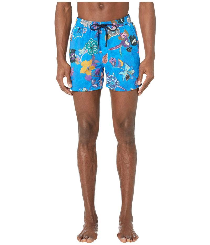 エトロ メンズ ハーフパンツ・ショーツ 水着 Tropical Swimsuit Blue