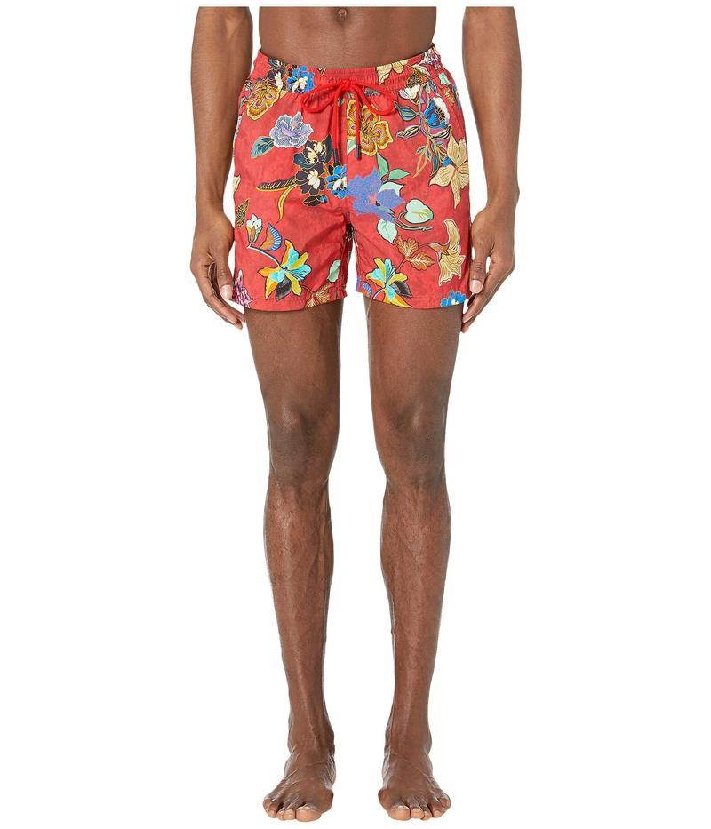 エトロ メンズ ハーフパンツ・ショーツ 水着 Tropical Swimsuit Red