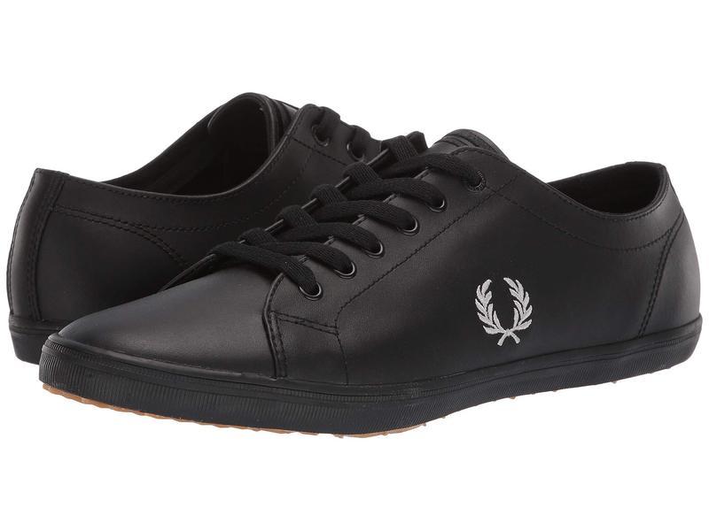 フレッドペリー メンズ スニーカー シューズ Kingston Leather Black/1964 Silver