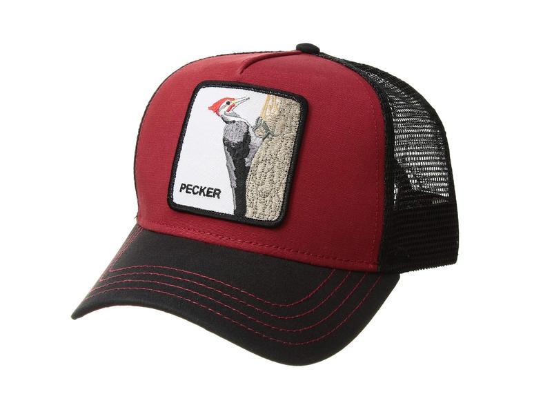 グーリンブラザーズ メンズ 帽子 アクセサリー Animal Farm Snap Back Trucker Hat Red Woody Wood