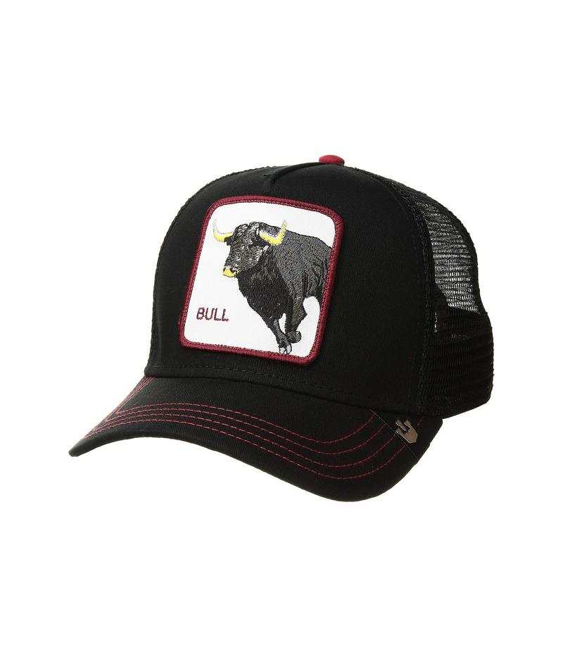 グーリンブラザーズ メンズ 帽子 アクセサリー Animal Farm Snap Back Trucker Hat Black Bull Honky