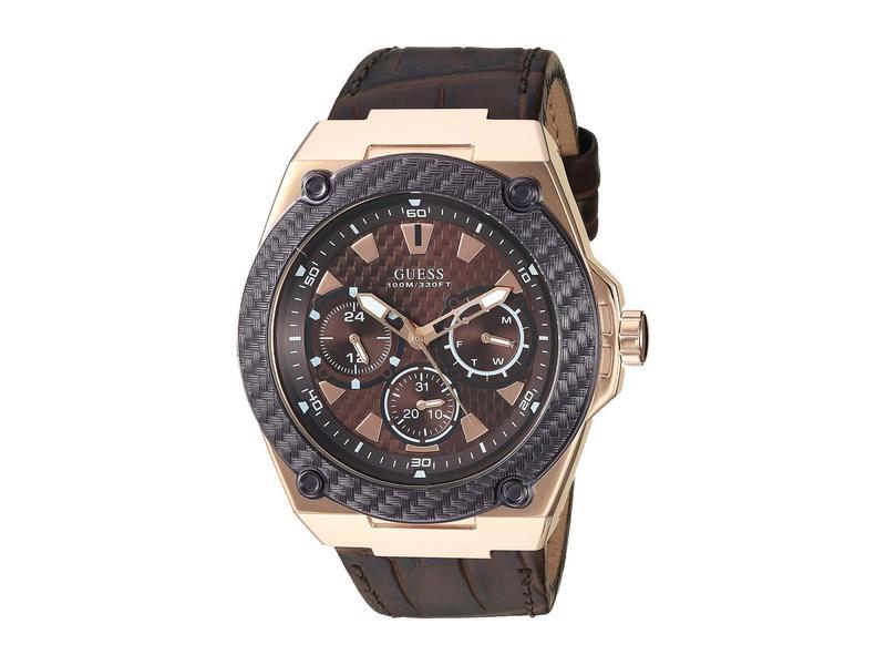 ゲス メンズ 腕時計 アクセサリー U1058G2 Rose Gold/Brown
