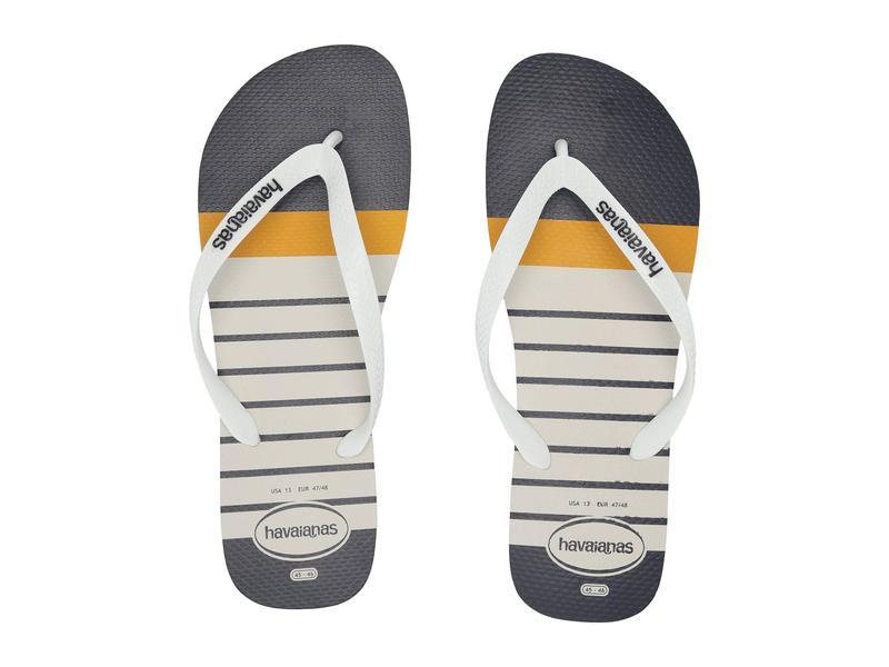 ハワイアナス メンズ サンダル シューズ Top Nautical Flip-Flops White/White