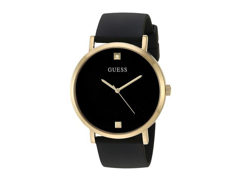 ゲス メンズ 腕時計 アクセサリー U1264G1 Black/Gold-Tone