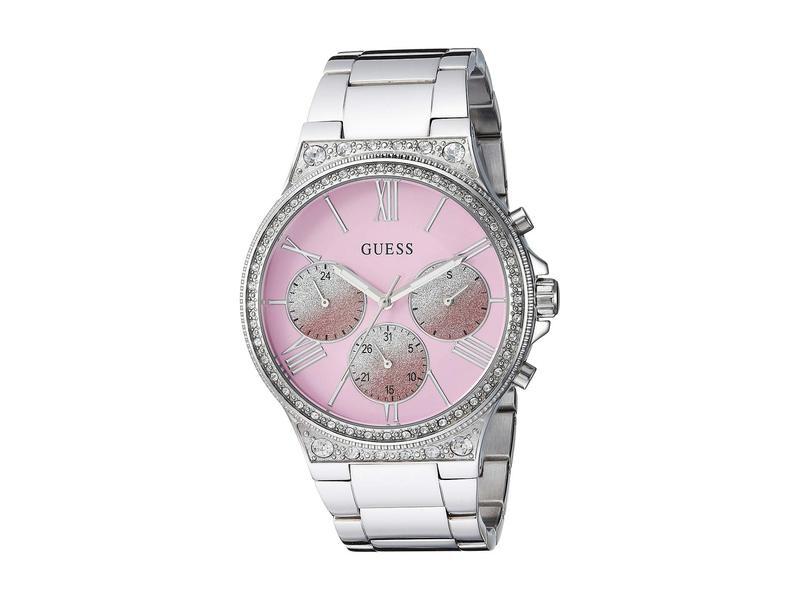 ゲス レディース 腕時計 アクセサリー U1232L1 Silver-Tone/Pink