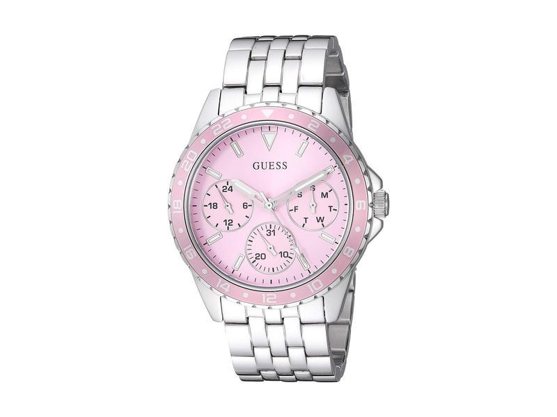 ゲス レディース 腕時計 アクセサリー U1187L2 Silver-Tone/Pink