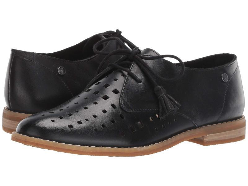 ハッシュパピー レディース オックスフォード シューズ Chardon Perf Oxford Black Leather