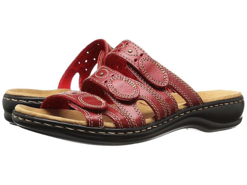 クラークス レディース サンダル シューズ Leisa Cacti Q Red Leather