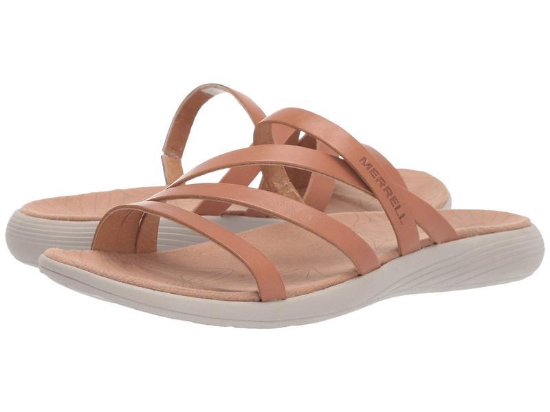 メレル レディース サンダル シューズ Duskair Seaway Slide Leather Natural Tan