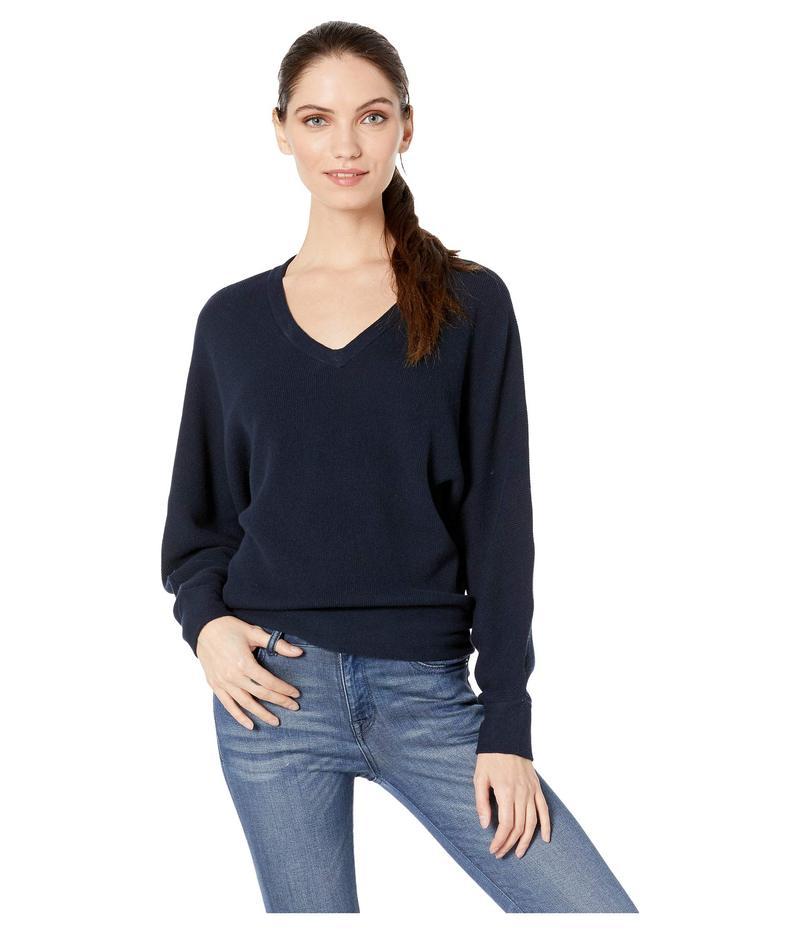 マイケルスターズ レディース ニット・セーター アウター Lanie Cotton Knit Long Sleeve Dolman V-Neck Pullover Sweater Admiral