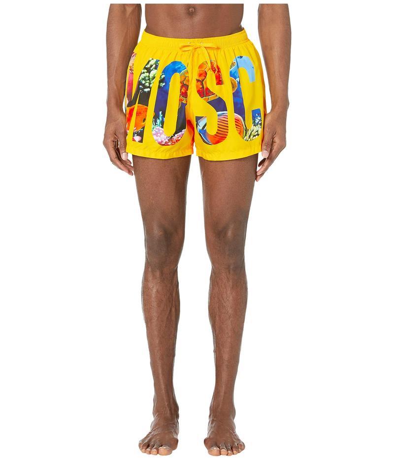 モスキーノ メンズ ハーフパンツ・ショーツ 水着 Ocean Floor Swim Shorts Yellow Multi