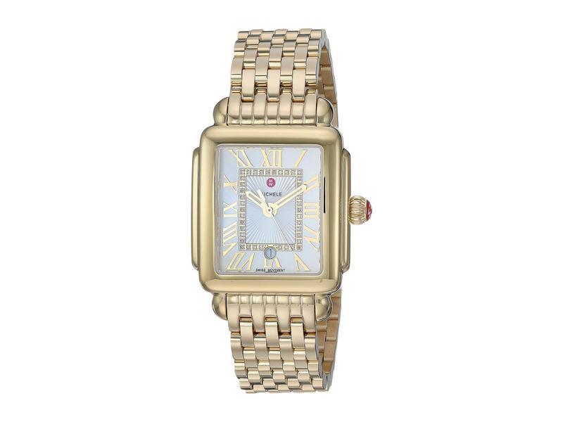ミッシェル レディース 腕時計 アクセサリー Deco Madison Mid Gold Plated - MWW06G000014 Gold Plated/Silver/White Sunray Dial