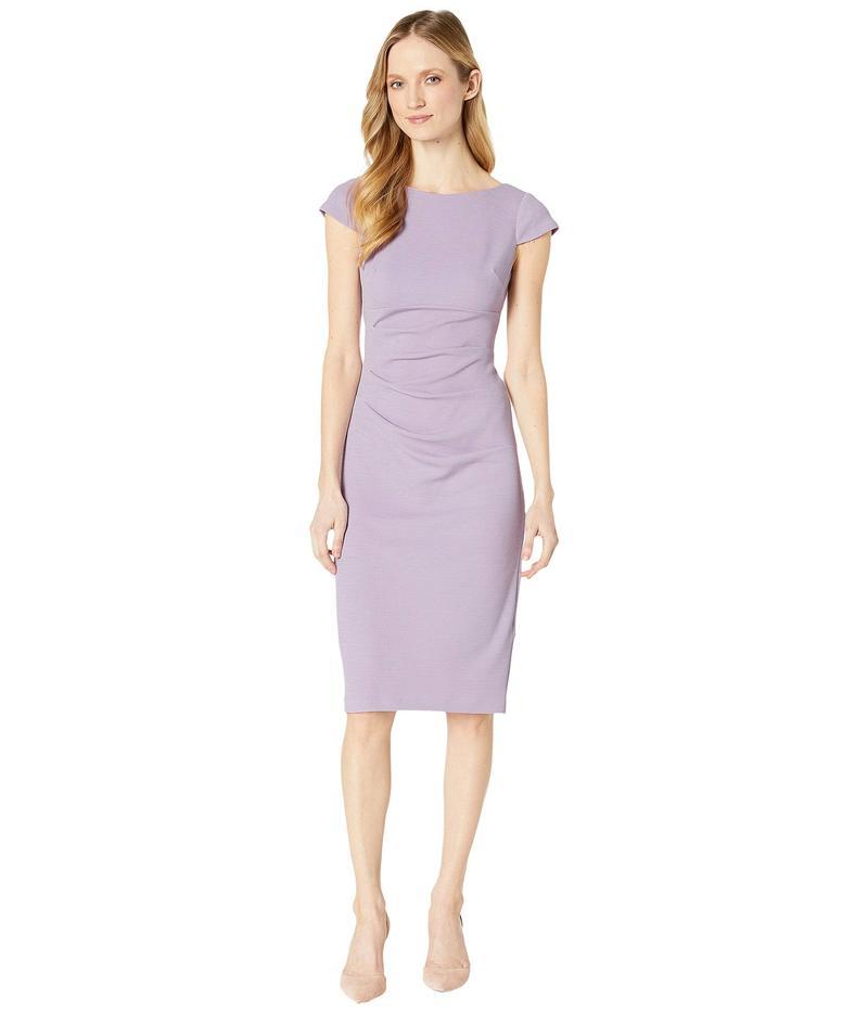 アドリアナ パペル レディース ワンピース トップス Rio Knit Tucked Sheath Dress Iced Lilac