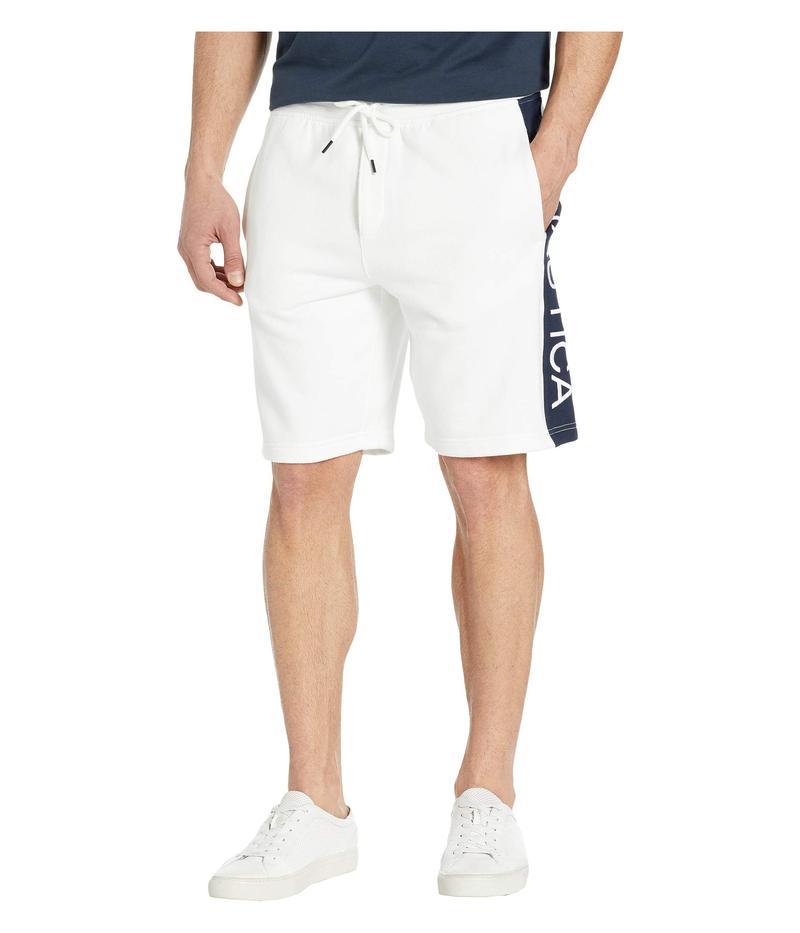 ナウティカ メンズ ハーフパンツ・ショーツ ボトムス Panel Logo Shorts Bright White