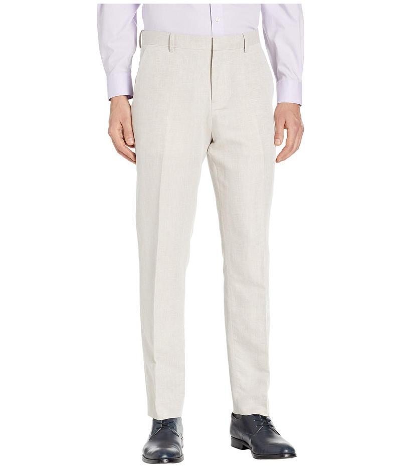 ペリーエリス メンズ カジュアルパンツ ボトムス Modern Fit Linen Dress Pants Natural Linen