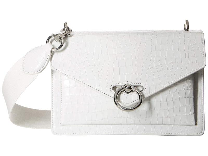レベッカミンコフ レディース ハンドバッグ バッグ Jean Medium Shoulder Bag Optic White