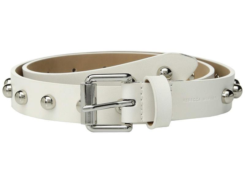 レベッカミンコフ レディース ベルト アクセサリー 25 mm Core Studded Belt Optic White