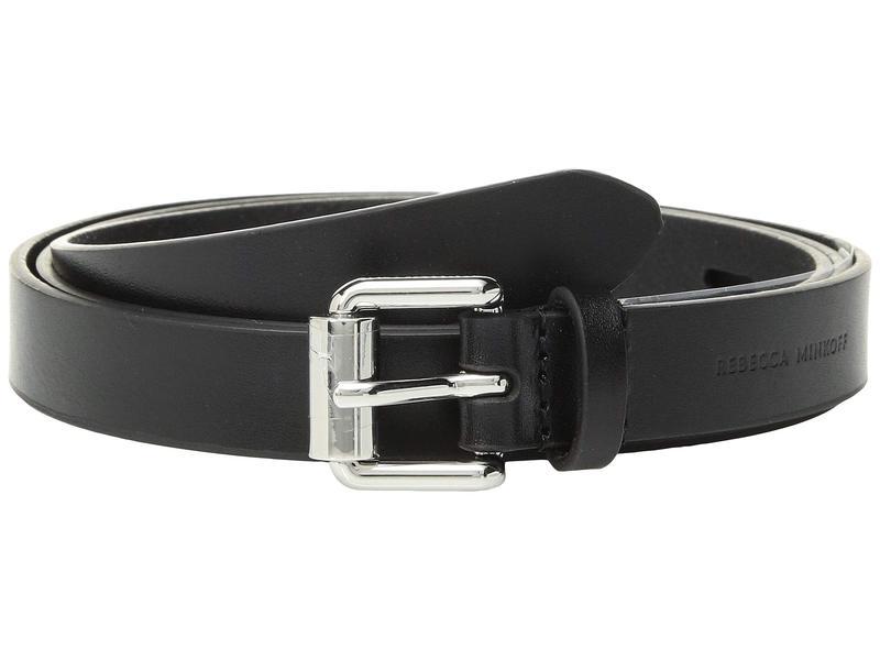 レベッカミンコフ レディース ベルト アクセサリー 20 mm Core Belt with Long Tail Black