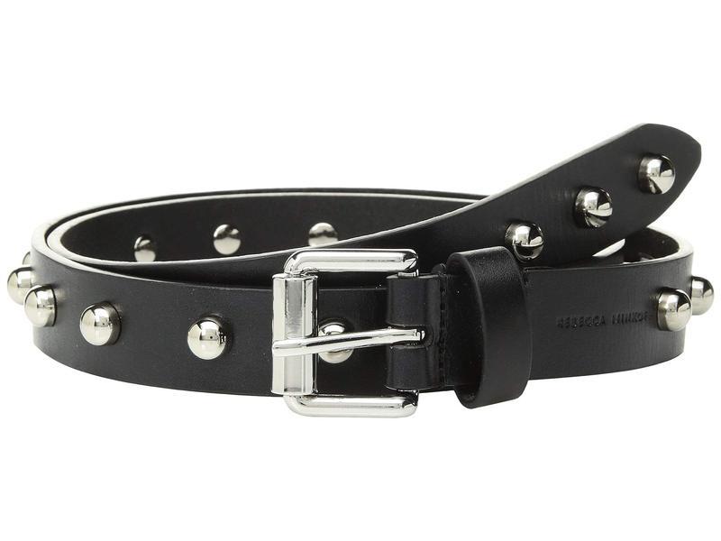 レベッカミンコフ レディース ベルト アクセサリー 25 mm Core Studded Belt Black