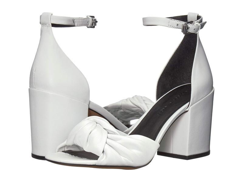 レベッカミンコフ レディース ヒール シューズ Capriana Optic White Leather