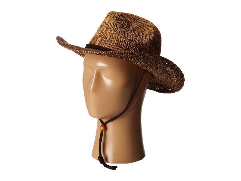 サンディエゴハット レディース 帽子 アクセサリー PBC1016 Ombre Woven Paper Cowboy w/ Chin Cord Brown