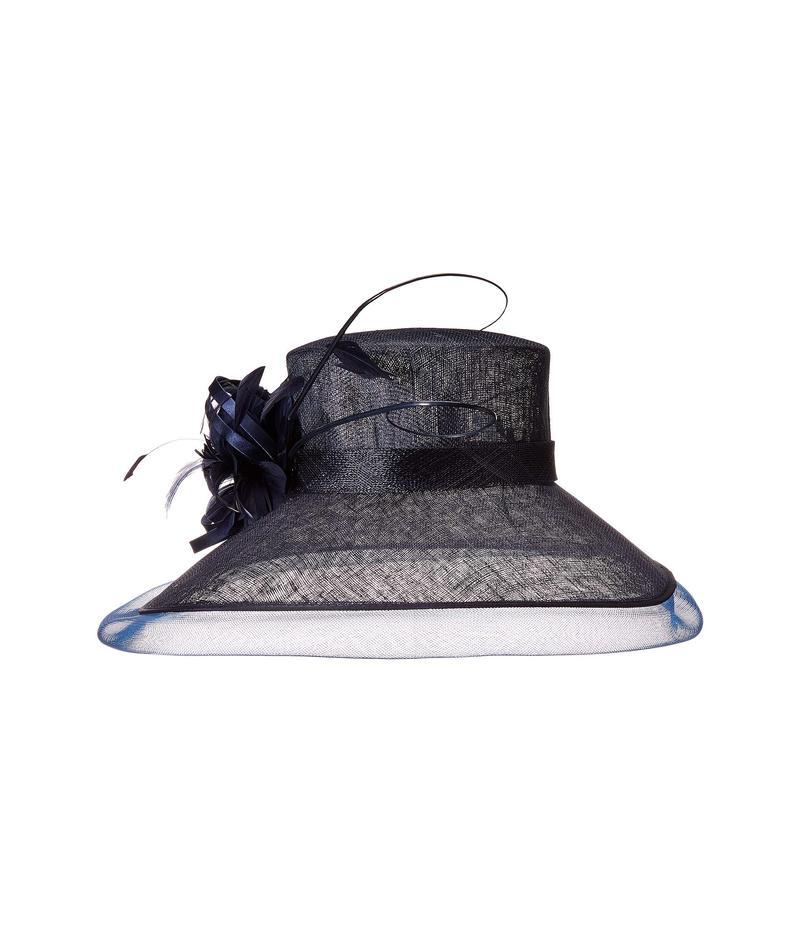 スカラ レディース 帽子 アクセサリー Sinamay Big Brim Hat Navy