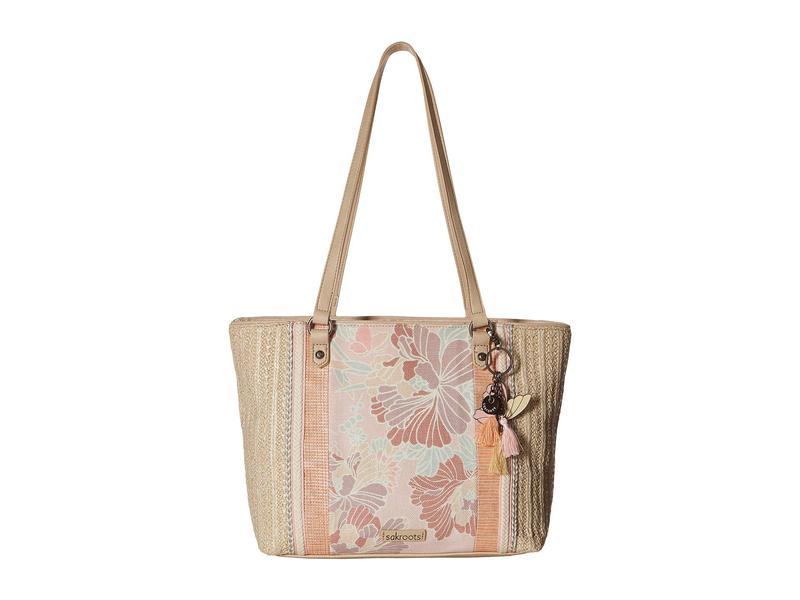 サックルーツ レディース ハンドバッグ バッグ Artist Circle Medium Satchel Petal Pink Flower Blossom