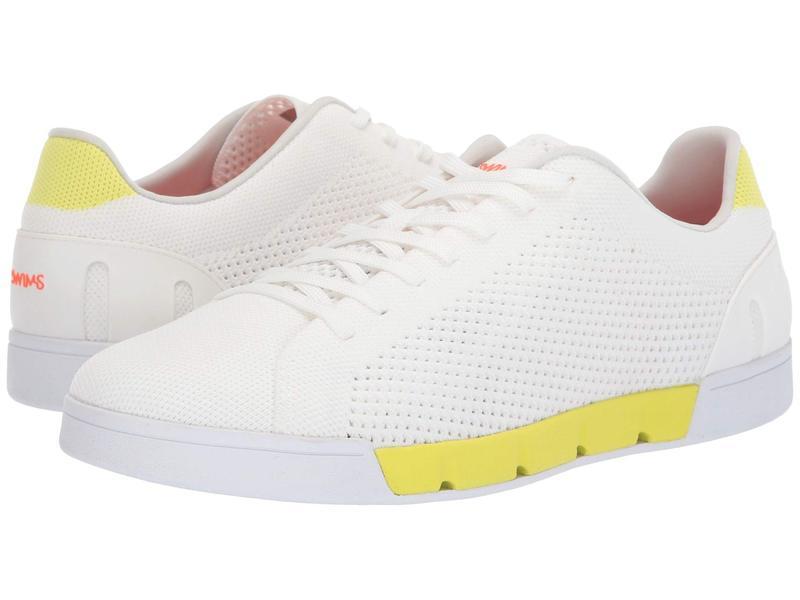 スウィムス メンズ スニーカー シューズ Breeze Tennis Knit Sneakers White/Limeade