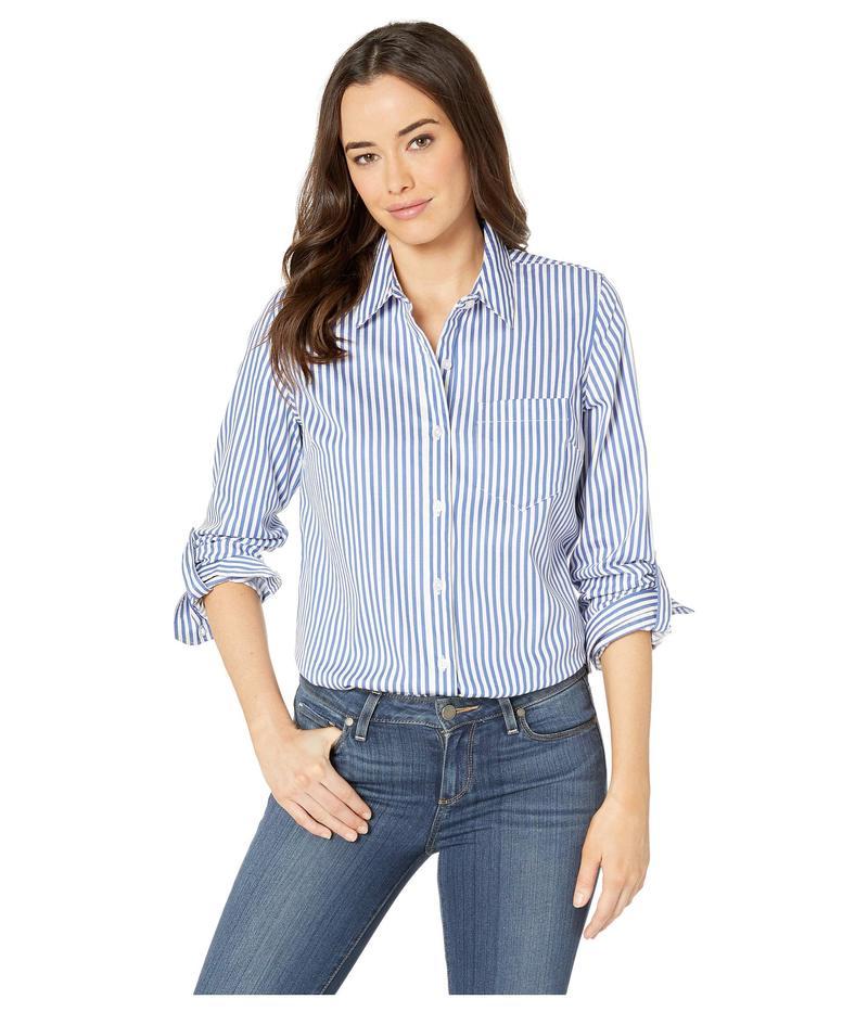 トリバル レディース シャツ トップス Yarn-Dye Stretch Shirting Yarn-Dye Roll Shirting Up Sleeve Sleeve Shirt True Blue, 超可爱の:226545ea --- sayselfiee.com