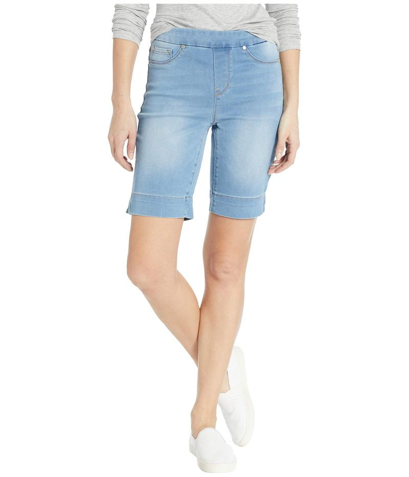 トリバル レディース ハーフパンツ・ショーツ ボトムス Soft Touch Denim Pull-On Bermuda w/ Side Slit in Real Blue Real Blue