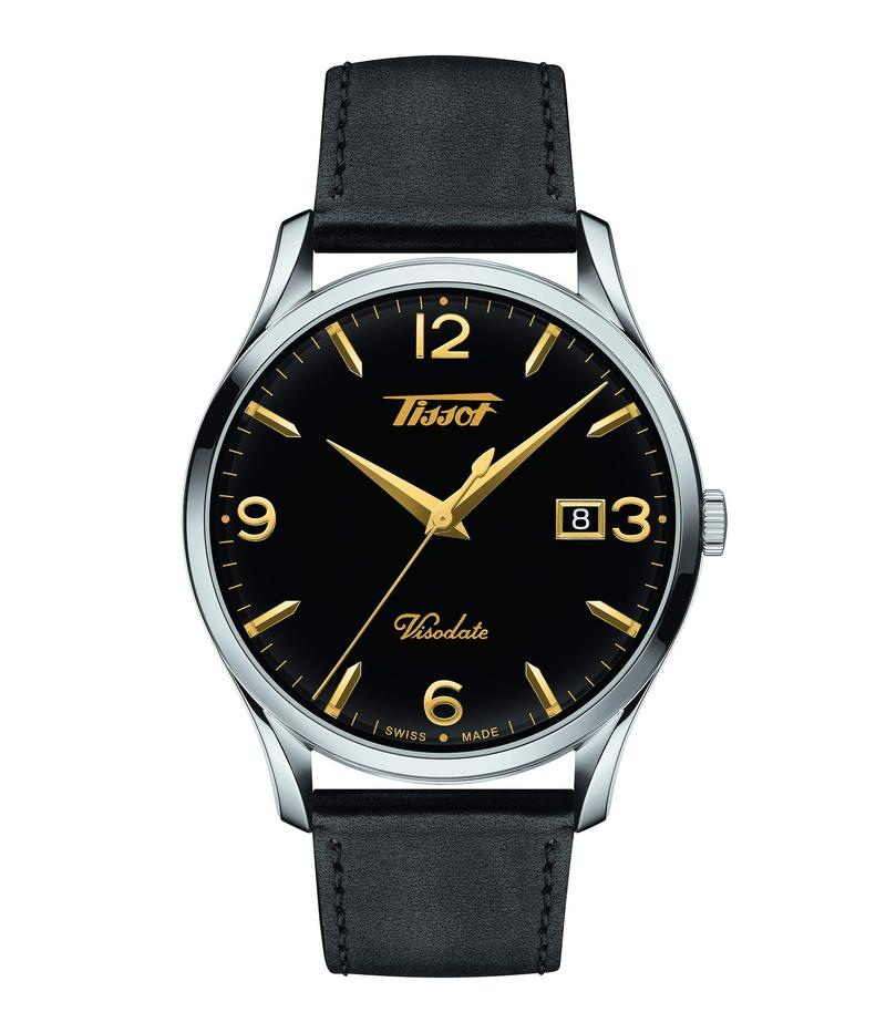 ティソット メンズ 腕時計 アクセサリー Heritage Visodate - T1184101605701 Black/Silver