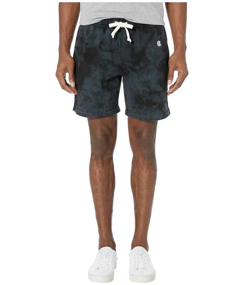 トッドスナイダー メンズ ハーフパンツ・ショーツ ボトムス Todd Snyder + Champion Script Warm Up Shorts Black Tie-Dye