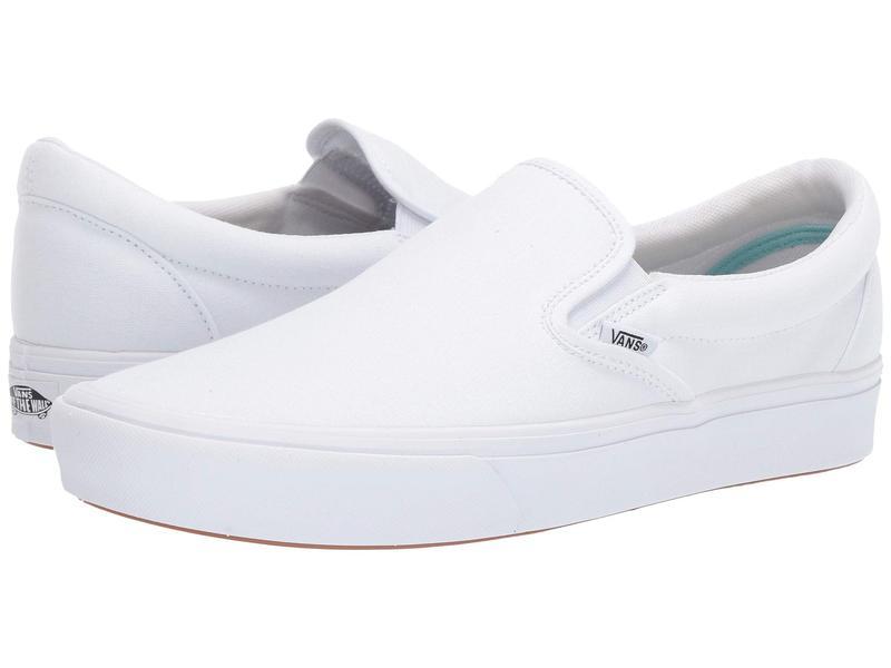 バンズ メンズ スニーカー シューズ ComfyCush Slip-On (Classic)True White/True White