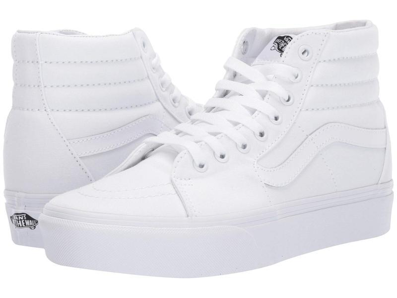 バンズ メンズ スニーカー シューズ SK8-Hi Platform 2.0 True White/True White