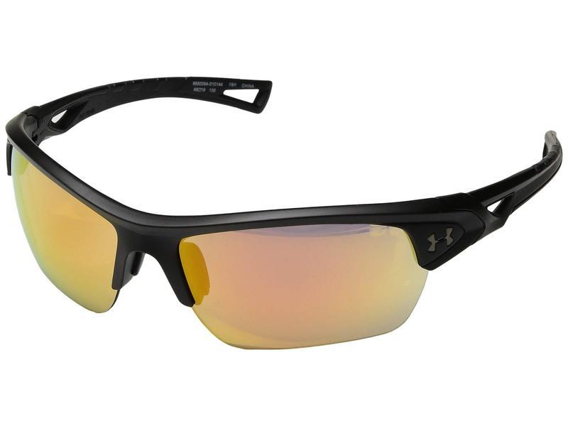 アンダーアーマー メンズ サングラス・アイウェア アクセサリー UA Octane Satin Black/Black Frame/Orange Baseball Tuned Lens
