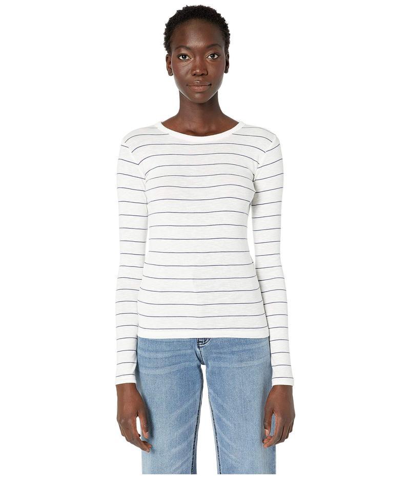 ヴィンス レディース ニット・セーター アウター Chalk Stripe Long Sleeve Crew Sweater Off-White/Arroyo