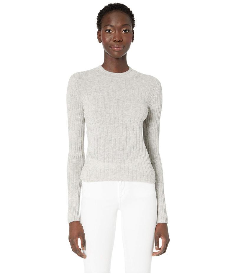ヴィンス レディース ニット・セーター アウター Mixed Rib Long Sleeve Sweater Heather Steel/Off-White