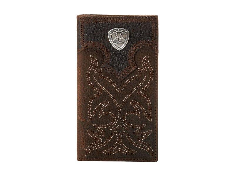 アリアト メンズ 財布 アクセサリー Ariat Shield Boot Stitch Rodeo Wallet Brown