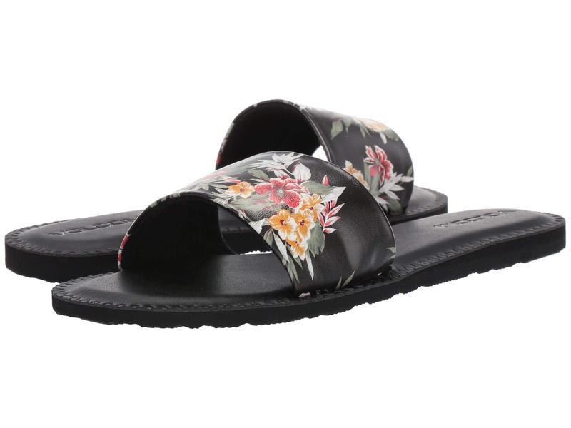ボルコム レディース サンダル シューズ Simple Slide Sandals Black Combo