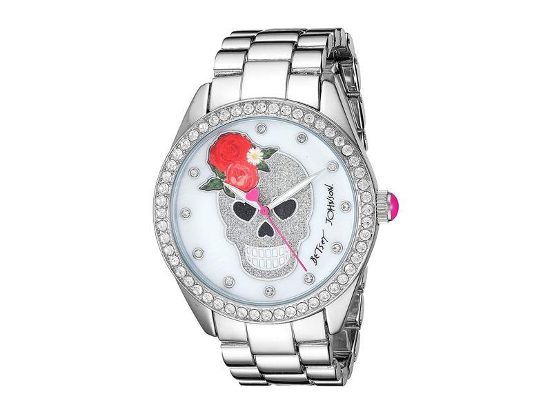 ベッツィジョンソン レディース 腕時計 アクセサリー 37BJ00048-263BX Silver Glitter Skull/Rose Silver