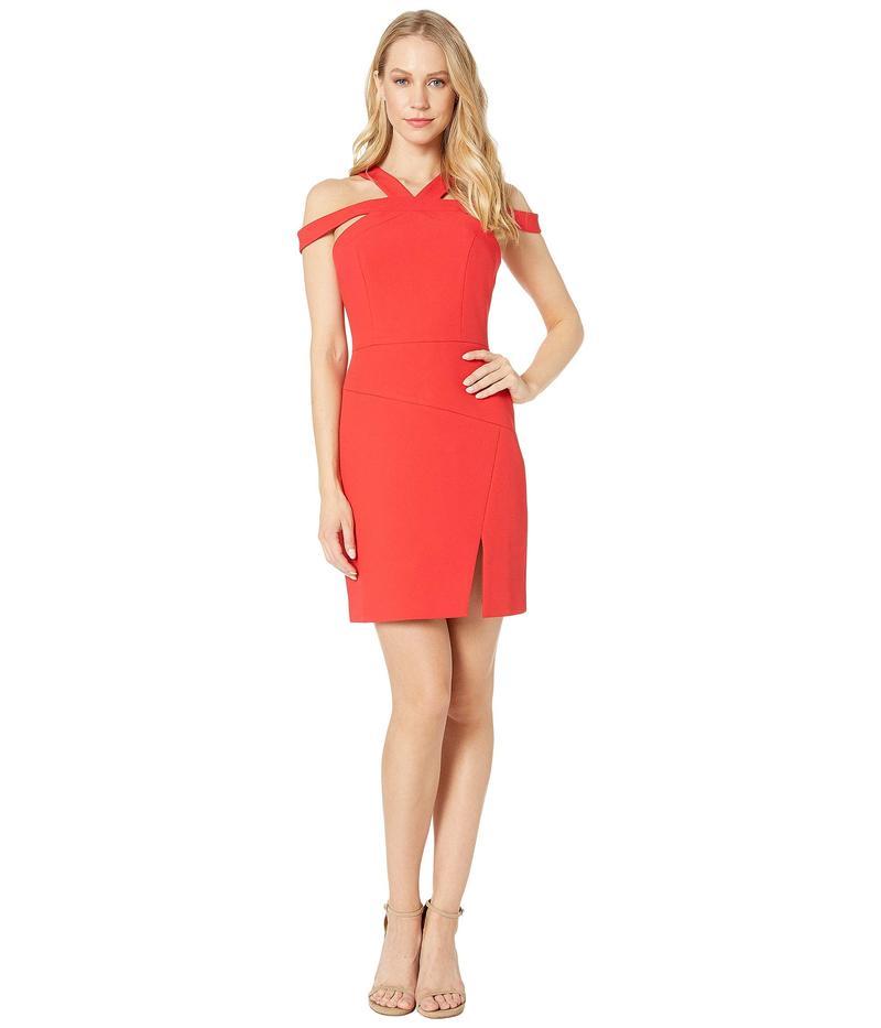 ビーシービージーマックスアズリア レディース ワンピース トップス Short Woven Evening Dress Jewel Red