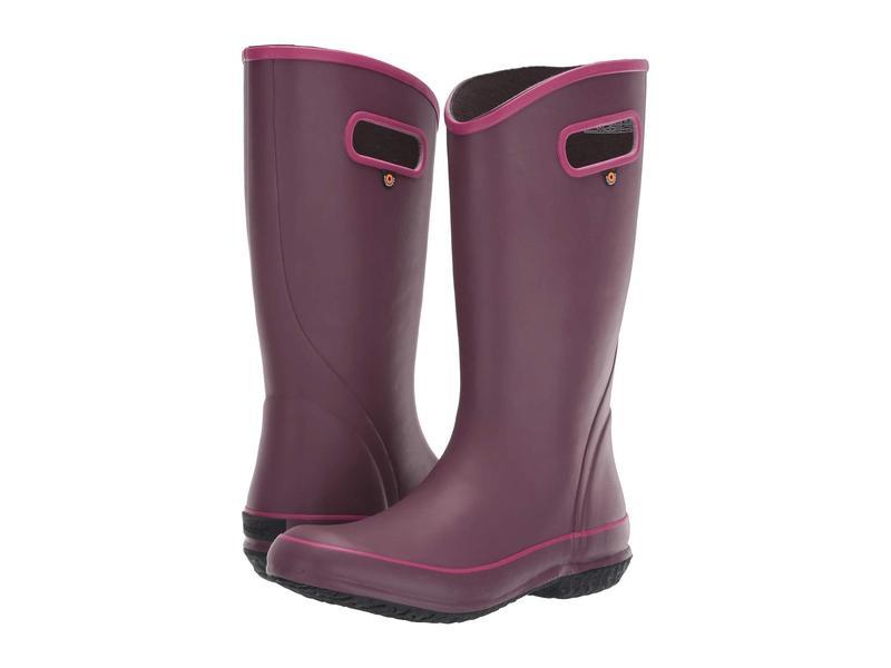 ボグス レディース ブーツ・レインブーツ シューズ Solid Rain Boot Violet